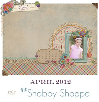Shabby Shoppe April 2012 free desktop background