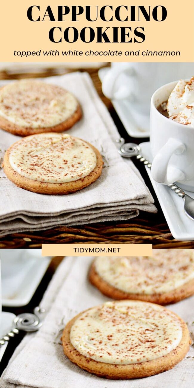 CAPPUCCINO COOKIES on a napkin
