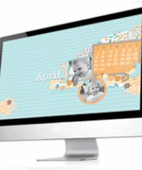 free 2012 April desktop calendar