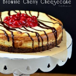 Brownie Cheesecake -TidyMom
