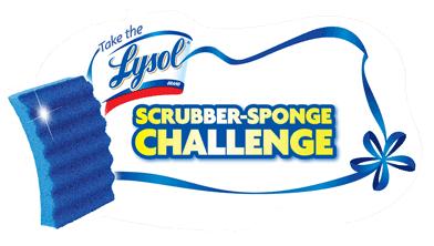 Lysol scrubber sponge challenge