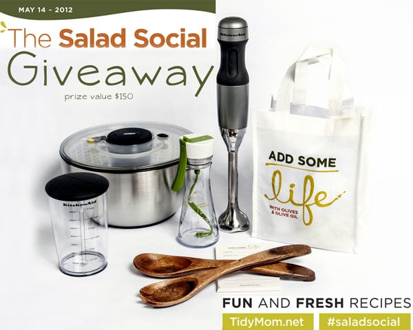 Salad Social Giveaway Prizes at TidyMom.net