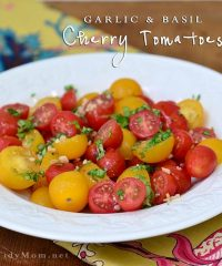 garlic basil cherry tomatoes