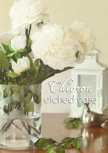 DIY Chevron Etched Glass Vase at TidyMom.net