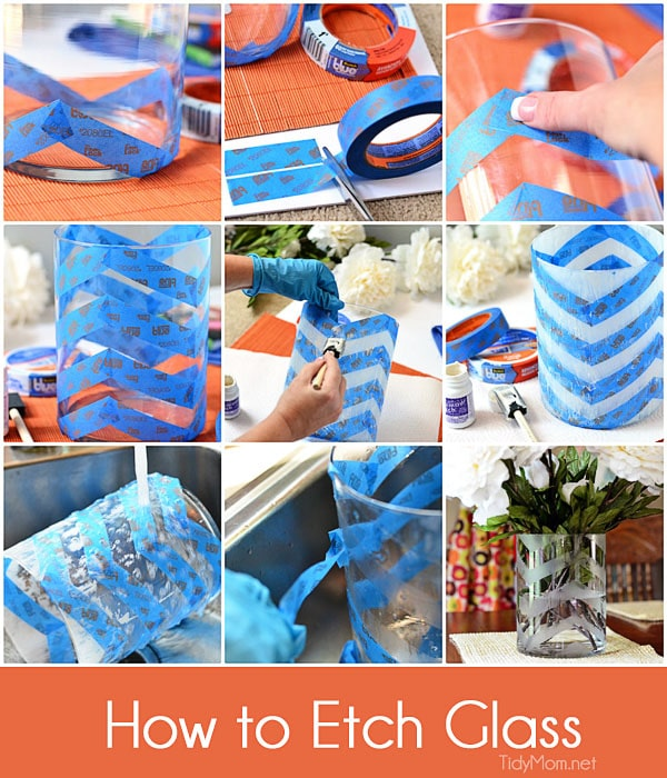 How to etch glass .  tutorial at TidyMom.net