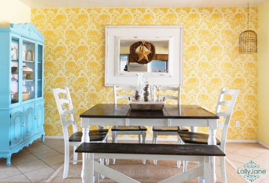 LollyJane blog julia stencil featured wall