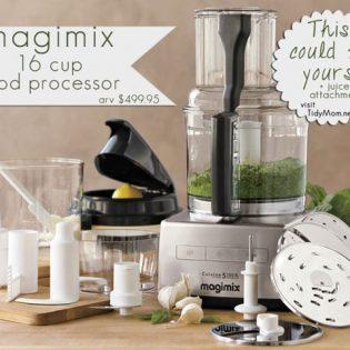 Magimix 16 cup Food Processor Giveaway at TidyMom