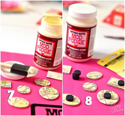 Making Magnets with Modpodge