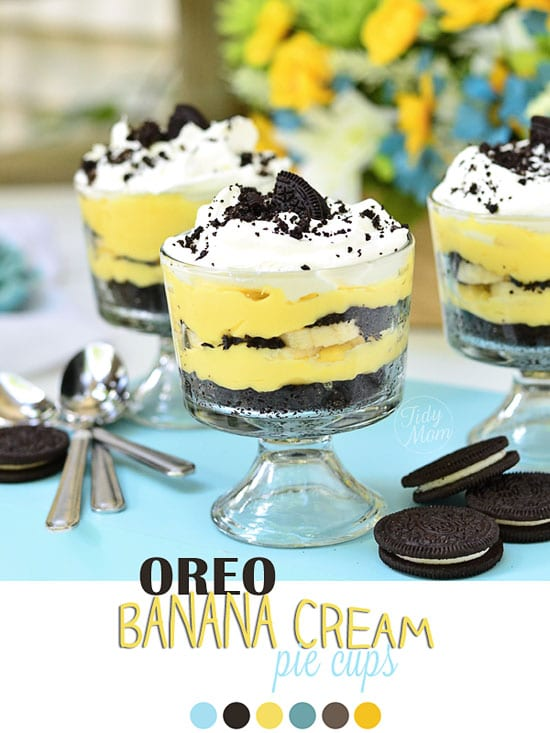Oreo Banana Cream Pie Cups