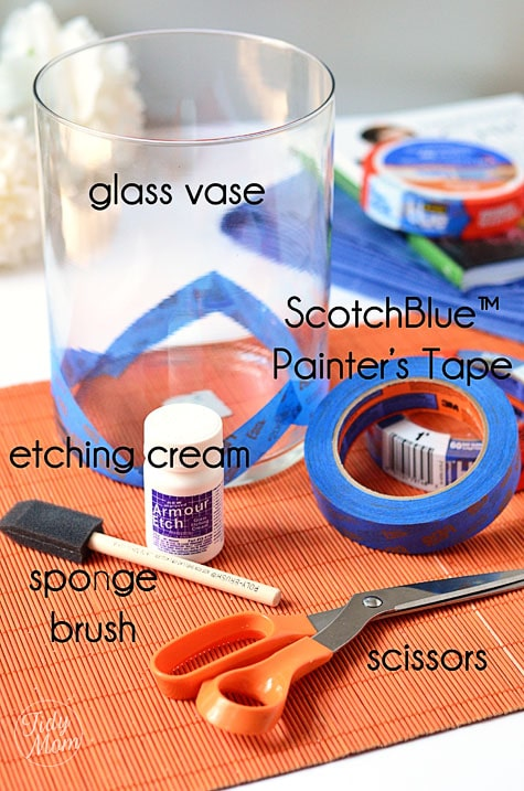 Supplies to etch glass vase