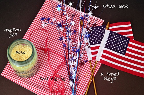 patriotic centerpiece supplies