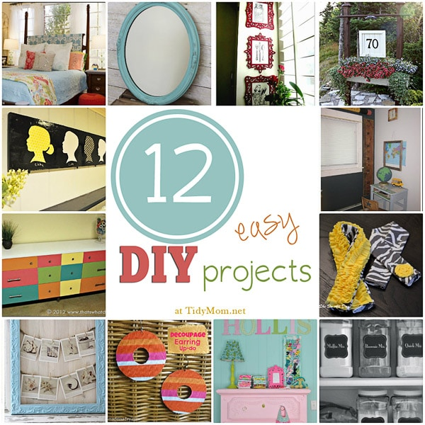 12 Easy DIY Projects at TidyMom.net #ImLovinIt