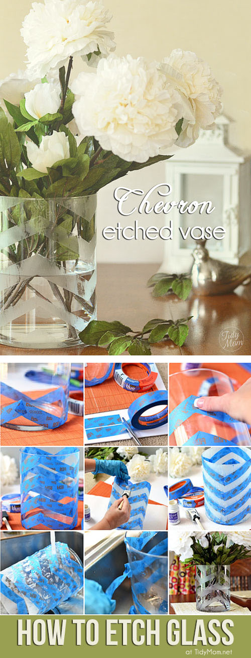 DIY:  How to Etch Glass at TidyMom.net