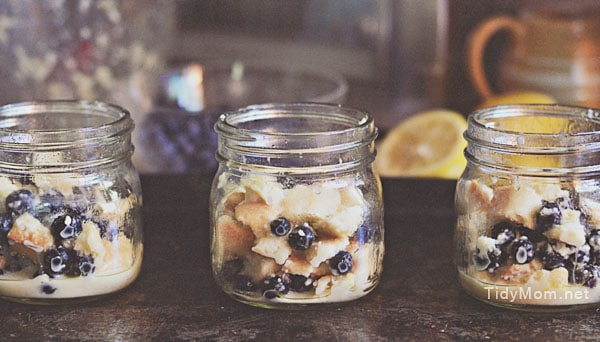 bread pudding in jars at TidyMom
