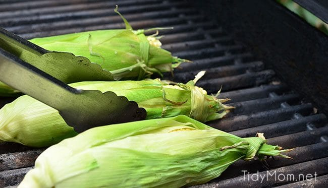How To Grill Corn on the Cob: put on grill