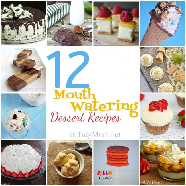 12 Mouth Watering Dessert Recipes at TidyMom.net