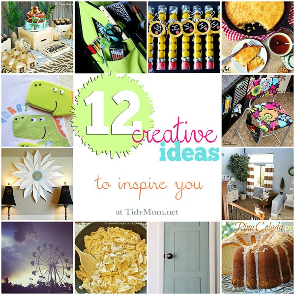 12 creative ideas to inspire you at TidyMom.net