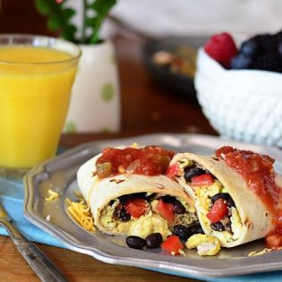 Rise and Shine Egg and Bean Breakfast Burrito at TidyMom.net