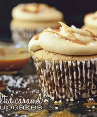 Salted Caramel Cupcakes at TidyMom.net