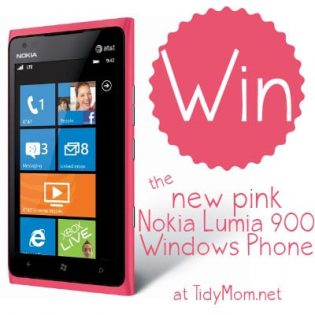 Win Lumia 900 Pink Windows Phone at TidyMom