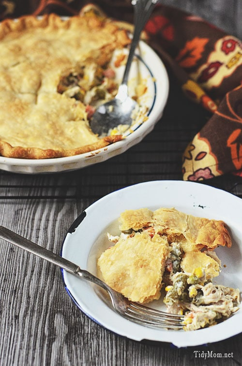Easy Weeknight Dinner:  Chicken Pot Pie recipe
