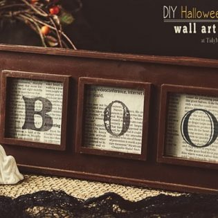 DIY Halloween Wall Art at TidyMom,net