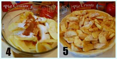 Upsidedown apple pecan Pie
