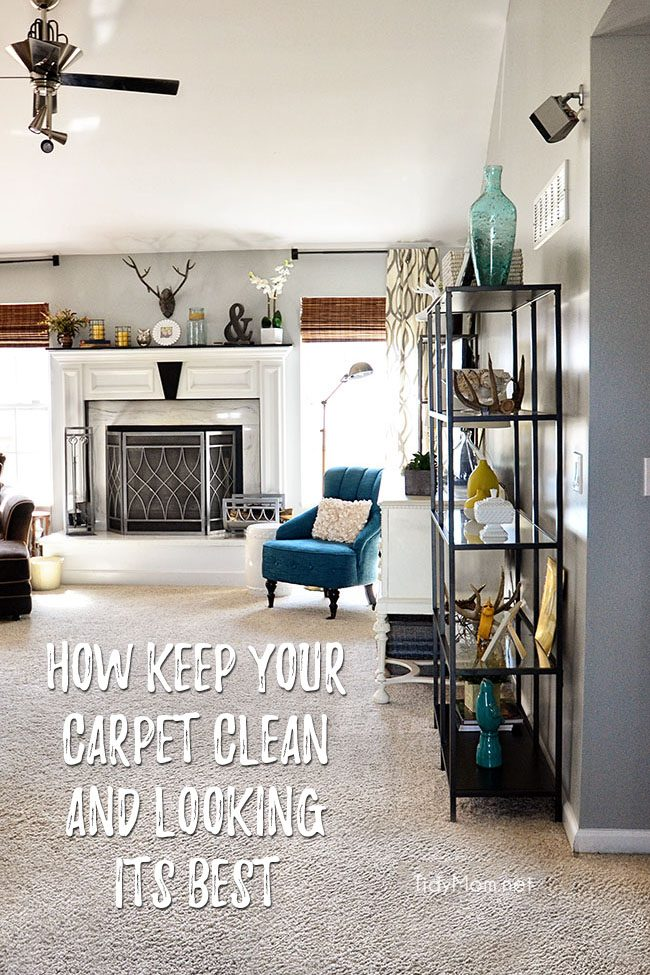 Carpets get dirty - there's no way around it. But they don't have to stay that way. Learn how to keep your carpet clean and looking its best. Follow these tips and keep your carpeted floors cozy, clean, and looking like new for years to come at TidyMom.net #cleaning #cleaningtips #carpetcleaning #carpetcleaningtips #hometips #tidymom