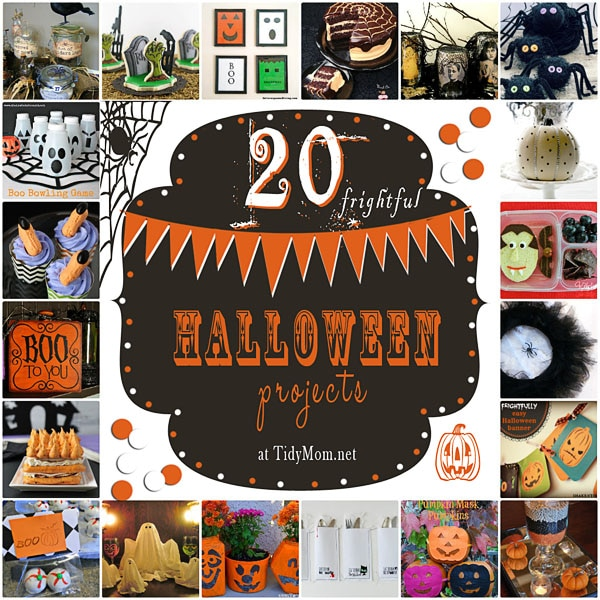 20 Spooky Halloween Projects at TidyMom.net
