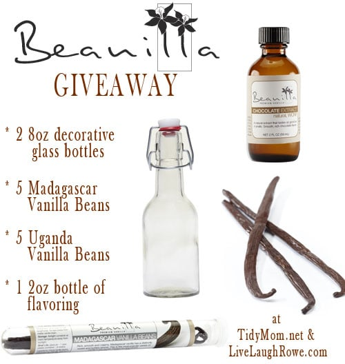 Beanilla Vanilla Extract Giveaway at TidyMom.net