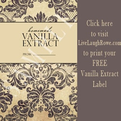 Free Printable Vanilla Extract Label from LiveLaughRowe.com