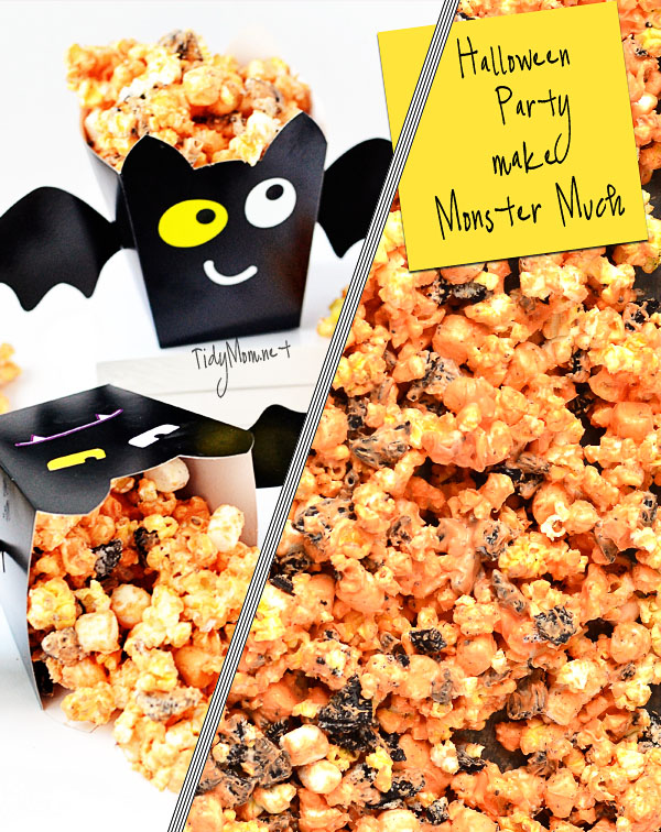 Halloween Party Popcorn recipe at TidyMom.net