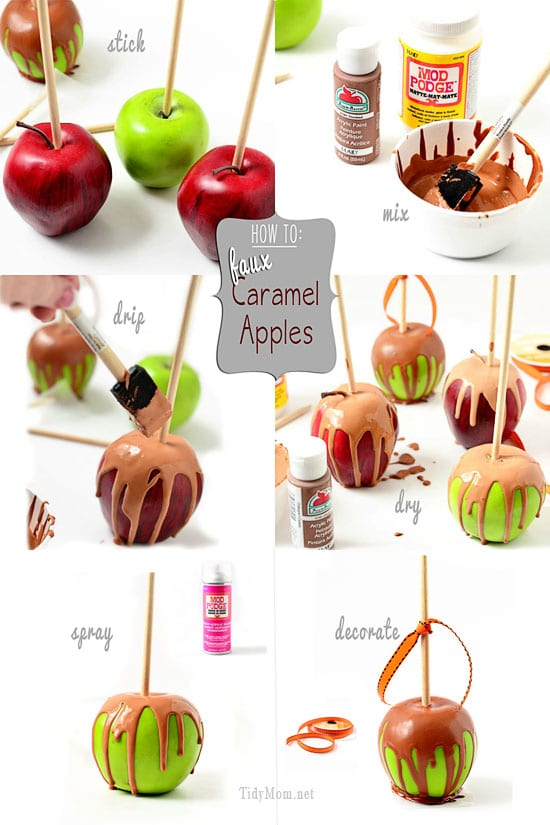 How to Make Faux Caramel Apples at TidyMom.net