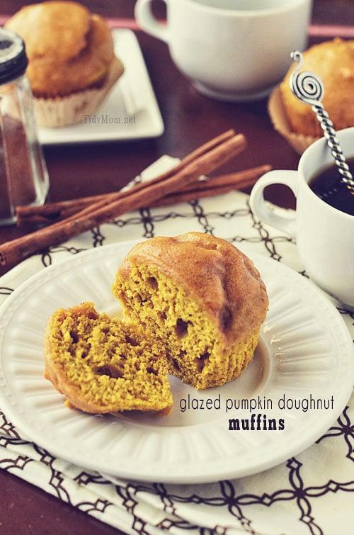 Pumpkin Doughnut Muffin Recipe at TidyMom.net