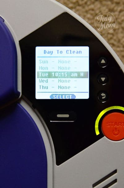 Schedule Vacuuming with Neato at TidyMom.net