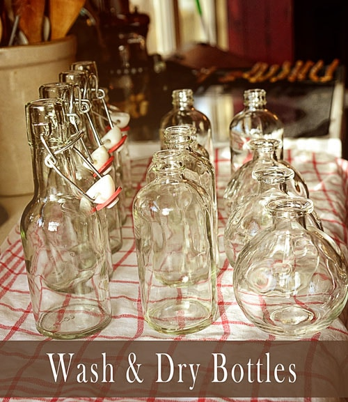 Wash & Dry Bottles for Homemade Vanilla