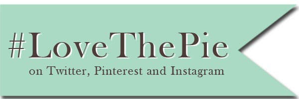 Follow Love the Pie Hashtag on Twitter Pinterest and Instagram