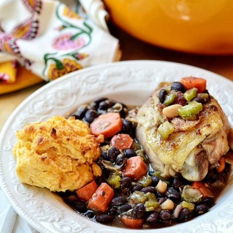 Easy One Pot Chicken and Beans recipe at TidyMom.net