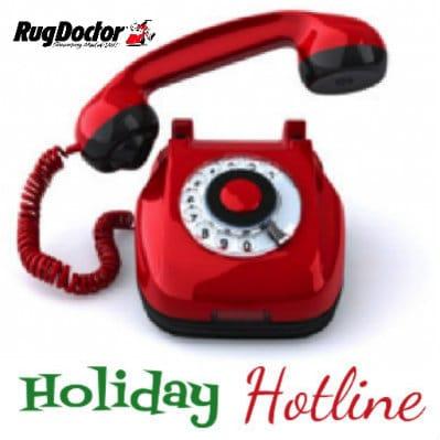 Rug Doctor holiday hotline