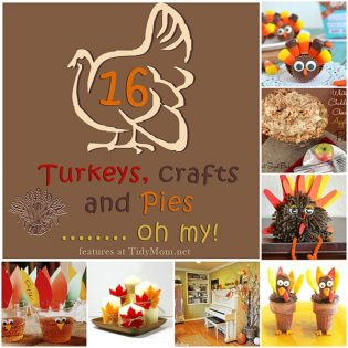 Thanksgiving Turkeys Crafts and Pies at TidyMom.net