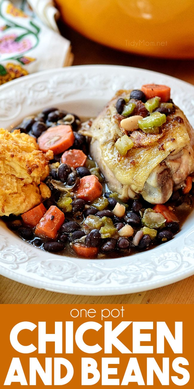 plate with chicken and beans