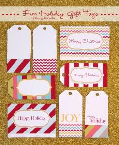 Free Christmas Tags to print from LivingLocurto.com