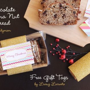 Christmas Gift Tags for Quick Bread from LivingLocurto at TidyMom.net