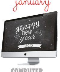 Free January Desktop Background Wallpaper