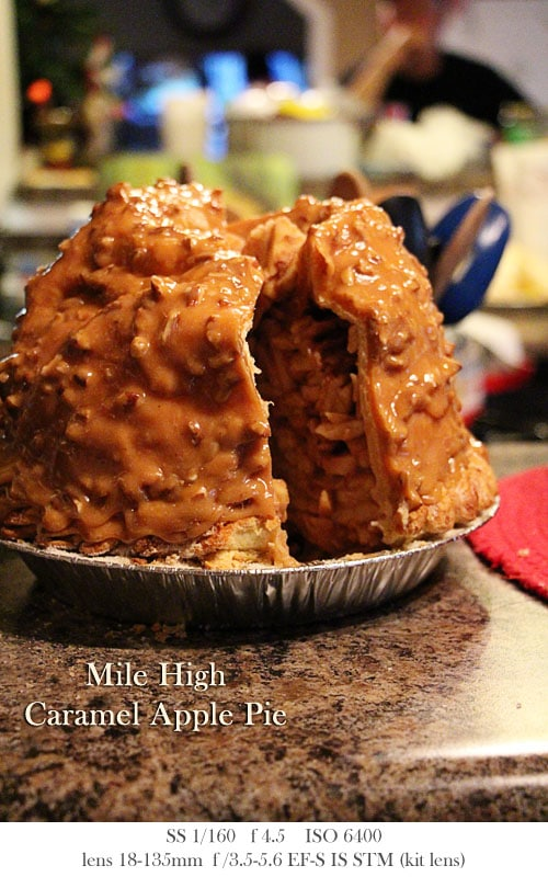 Mile High Caramel Apple Pie