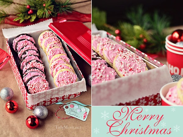 Peppermint Christmas Cookies TidyMom