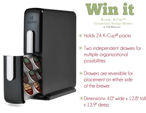 Win Keurig K Cup Storage Drawer At TidyMom.net