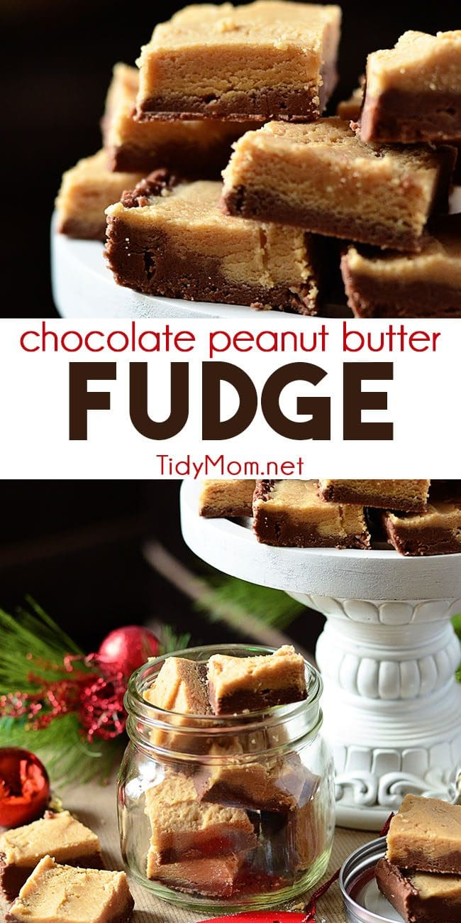 Grandma's Chocolate Peanut Butter Fudge photo collage