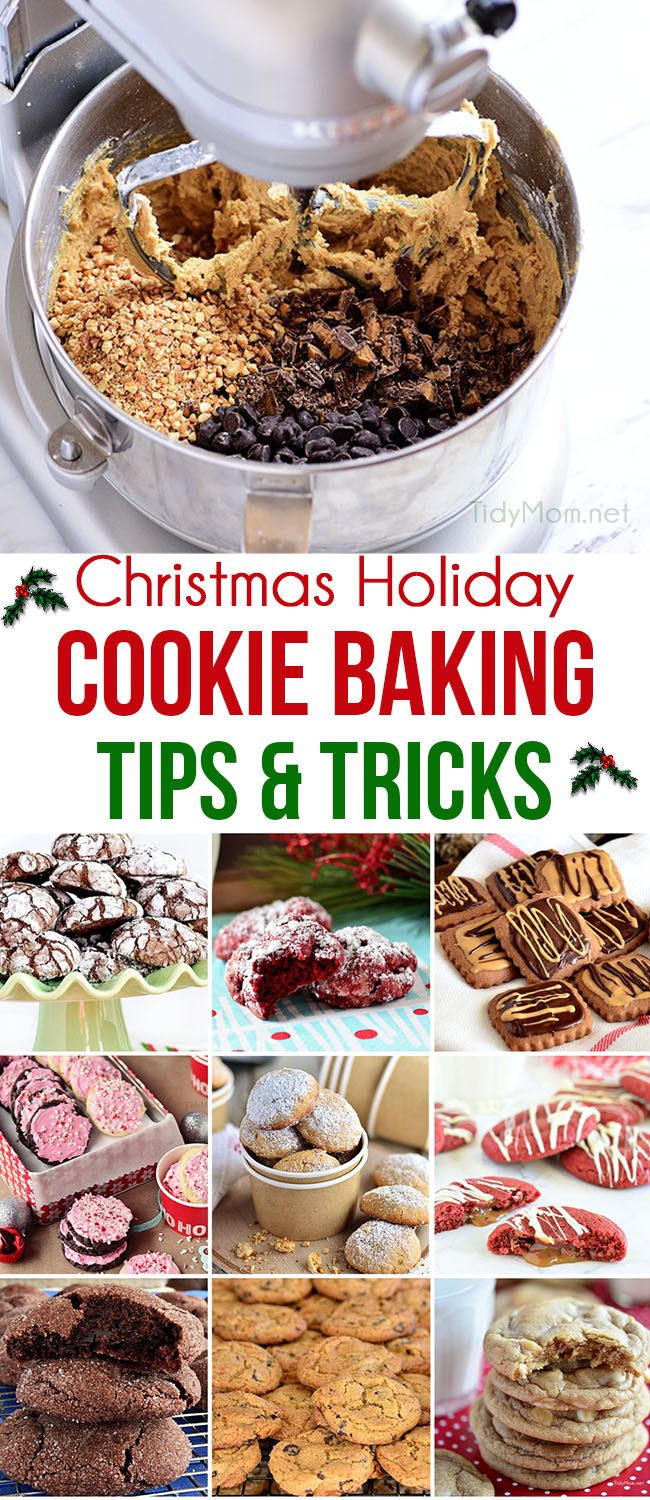 cookie baking tips collage image