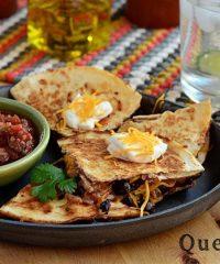 Black Bean and Cheese Quesadillas recipe at TidyMom.net